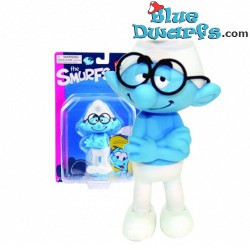 Brainy smurf *Plastic* (Goldie Marketing, +/- 15 cm)