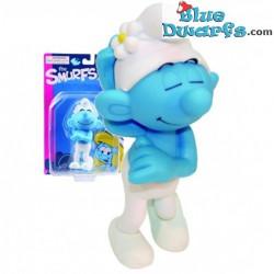 Ijdele Smurf *PLASTIC* (Goldie Marketing, +/- 15 cm)
