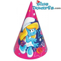 6 x party hat smurfette