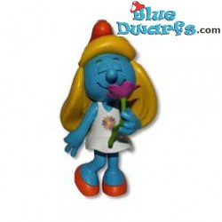 Smurfette with purple dress *Plastic* (Goldie Marketing, +/- 15 cm)