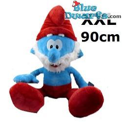 Smurfen knuffel: Grote smurf (+/- 90 cm)