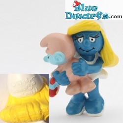 20192: Smurfette with baby (baby: pink tail)