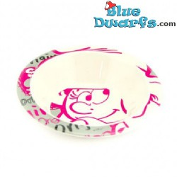 5 x smurfette bowl (plastic)