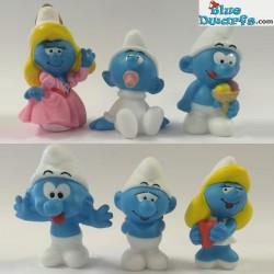 6 Smurfs in ei (Plastoy 2013)