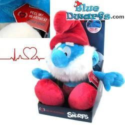 "Smurf Plush: Papa smurf ""Feel the heartbeat"" (+/- 45 cm)"