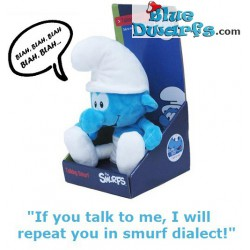 "Smurf Plush: Talking smurf ""Repeats what you say"" (+/- 30 cm)"