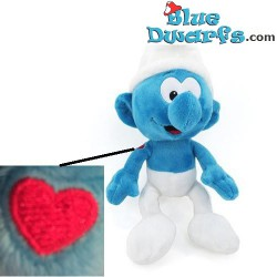 Smurf Plush: Hefty Smurf with tattoo  (+/- 30 cm)