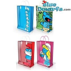 4 x Smurf plastic bag (31 x 12 x 40 cm)