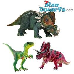 Two herbivores dinosaurs with one velociraptor (Schleich/42281)
