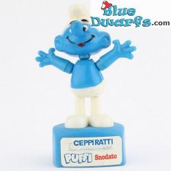 Schtroumpf mobile en plastique BLEU *Ceppi Ratti puffi snodato*