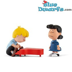 Playset Lucy and Schroeder (peanuts/ Snoopy, 22055) *Scenery Pack*