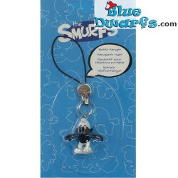 Plastic smurf pendant: Angry Smurf  (+/- 2,5 cm)