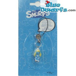 Plastic smurf pendant: Smurfette (+/- 2,5 cm)