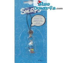 Plastic smurf pendant: Soccer Smurf (+/- 2,5 cm)