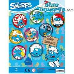 8 Smurf PU balls (60 mm) *stressball*