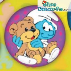 Smurf PU ball: Baby Smurf with teddy (62 mm) *stressball*