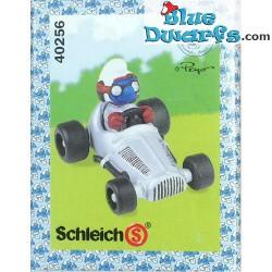 40256: Rennfahrer Schlumpf Silbern