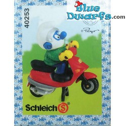 40253: Scooter Smurf rood (Supersmurf/ MIB)