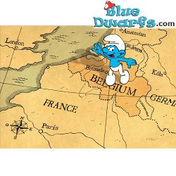 Postcard: Belgium map (15 x 10,5 cm)