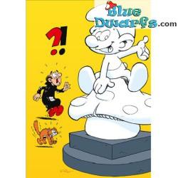 Carte postale: Smurf Shop statue (15 x 10,5 cm)