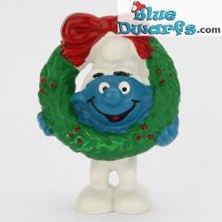51906: Pitufo de Navidad con corona