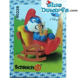 40228: Papa Smurf in Rocking chair *MINT IN BOX/ NEW STYLE*
