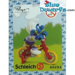 40252: Vélo acrobatique Schtroumpf (Super Schtroumpf/ *PEYO CREATIONS* /Mint in box)