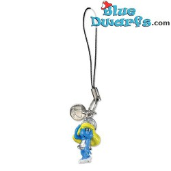 Plastic smurf pendant: Smurfette on chair (+/- 2,5 cm)