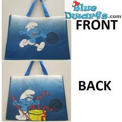 Brainy smurf/  Jokey smurf plastic bag (+/-31 x 12 x 40 cm)