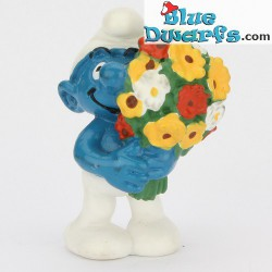 20469: Smurf with flowers (Shiny variant, 2001)