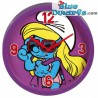 Smurfette with sunglasses wall clock (+/- 25 cm)