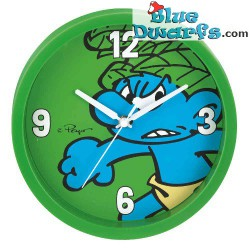 Jungle Smurf wall clock (+/- 25 cm)