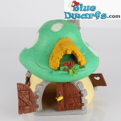 40001: Old Schleich House Smurf big GREEN (NO BOX) VG