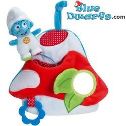 Smurf Plush: Baby smurf *activity mushroom* (Mint in Box)