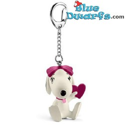 Belle with heart *keyring* (peanuts/ Snoopy, 22037)