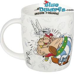"""Asterix et Obelix Tasse:  """"Aber wir lieben unsere Freunde!"""" (0,38L)"""