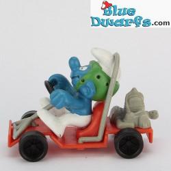 40218: Puffo con go-cart (Super puffo)