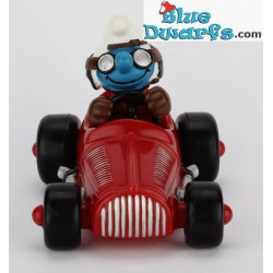 40255: Race auto Smurf rood (Supersmurf/ MIB)