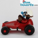 40255: Race Car Smurf red (Supersmurf MIB)