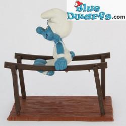 40509: Bars Gymnast Smurf (Super Smurf/MIB)