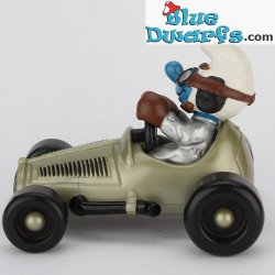 40256: Race Car Smurf silver (Supersmurf/ MIB)