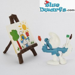 40239: Artist with Easel Smurf
