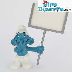 40208: Sign bearer Smurf (Super smurf/MIB)