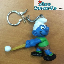 20133: Fieldhockey Smurf (light brown stick/ keyring)
