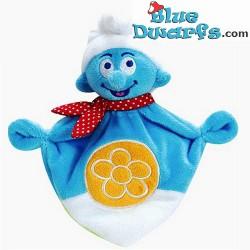Smurfen knuffel:  Smurfendoekje voor baby's (+/- 20 cm)
