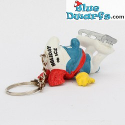 20121: Ice-Skater Smurf (keyring)