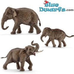 Schleich olifanten: Aziatische olifantenfamilie (Schleich 14753/14754/14755)