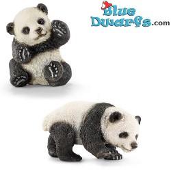 Schleich Wildlife: (Sibirische) 2x Panda Junge, Spielend (14707+14734)