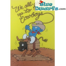 "Smurfenposter ""We all grow up to be Cowboys "" NR. 7617 (49x34 cm/ 1981)"