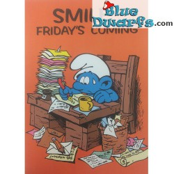 "Smurfenposter ""Smile friday's is coming"" NR. 7606 (49x34 cm/ 1981)"